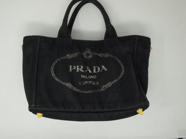プラダ(PRADA)キャンバストートバッグ  クリーニング前