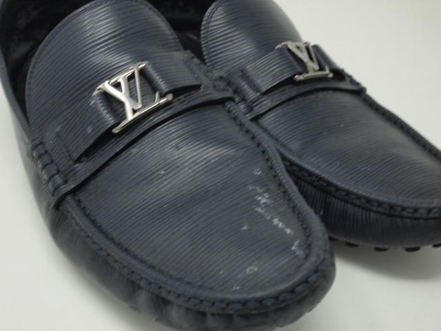 Louis Vuittonレザースリッポン クリーニング前