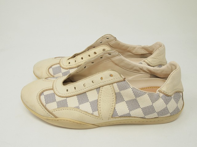 Louis Vuittonダミエのレザースニーカー クリーニング後
